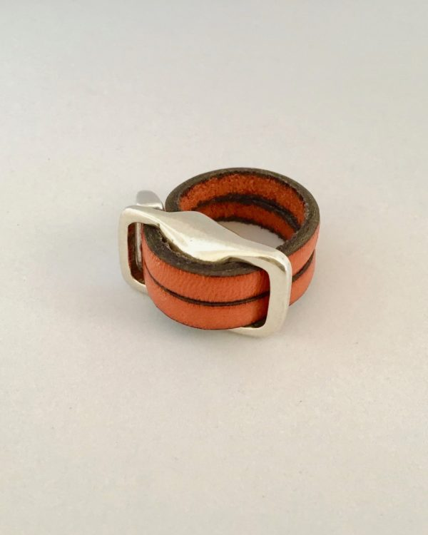 Bague Flow Orange Double rang
