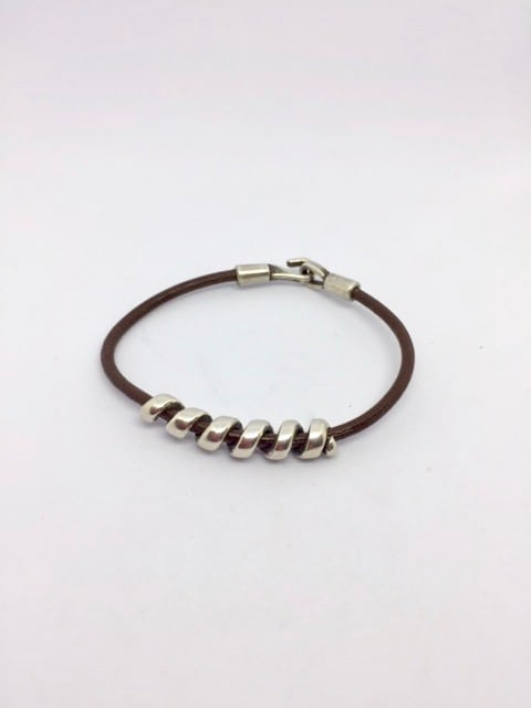 Bracelet Spire Marron Mixte