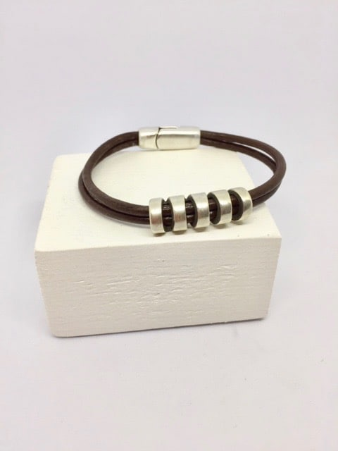 Bracelet Balto Marron Double rang