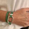 Bracelet Koba vert double